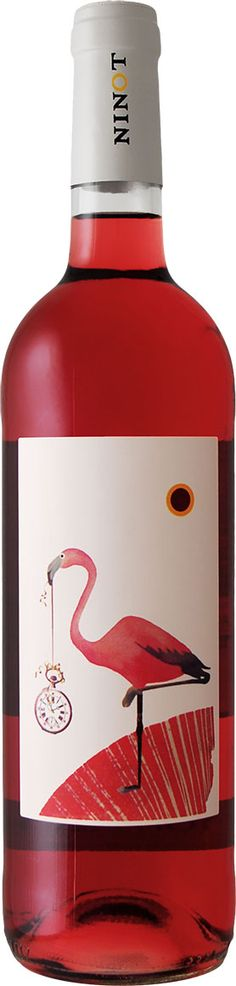 Awesome flamingo. Fun Ninot Rosado 2012 #wine #packaging : ) PD