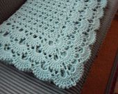 Hand Crocheted Pastel Pink Cozy Cover Throw Afghan by luvs2crochet
