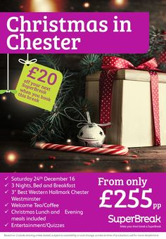 @ChesterChron look at this deal!  PLEASE SHARE plus £20 of your NEXT break! WOW #LoveChristmas #FestiveBreaks from £255PP call 08009757584