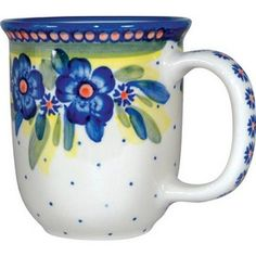 Polish Pottery 12oz Mug - Artistic Design # 020 Polish Pottery Mugs - Pottery, WIZA - By Ceramika Artystyczna WIZA - 644527064154 at Polart - PolandByMail