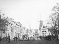 Schiedam 1910 Lange Kerkstraat ter hoogte van de Sint Janskerk