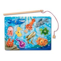 Magnetic Fishing Puzzle - Fun well made wood puzzle game. $9.99