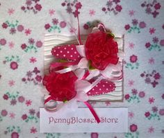 Handmade set fabric flower hair clips. Hairpin, Hairclip, haarspeldje, pennyblossemstore, etsy.