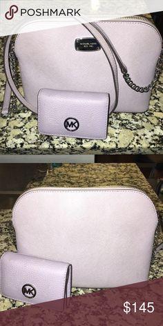 Michael Kors cross body purse and matching wallet Lavender Cross Body Purse and matching wallet Michael Kors Bags Crossbody Bags
