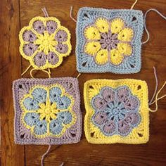 WIP Sunday - What's on Your Hook? Week 2 Entry African Flower with 8 Petals (Square) by Nicole Hancock Free Pattern ༺✿Teresa Restegui http://www.pinterest.com/teretegui/✿༻