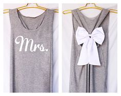 Mrs. Bride team Bridesmaid Premium with Bow : Workout Shirt - Keep Calm Shirt  - Bow Shirt - Razor Back Tank - Bride team - tank top