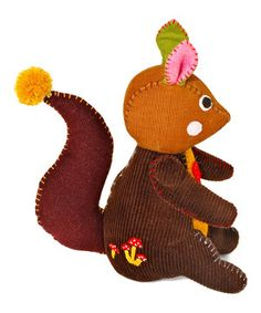 Another great find on #zulily! Stubby Squirrel Embroidered Plush Toy by Nook-Nook #zulilyfinds