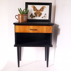 French side table night stand bedside mid century modern retro 50s danish style