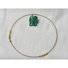 Malachite elephant choker necklace, 43cm Malachite, Gemstone Jewelry, Elephant, Women Jewelry, Chokers, Range, Jewellery, Gemstones, Bracelets