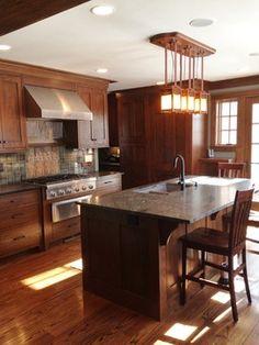 Hilltop Craftsman Kitchen - rustic - Kitchen - Cincinnati - Rene Products