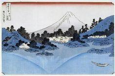 Mount Fuji Reflected in Lake Misaica, from the series '36 Views of Mount Fuji' by  Katsushika Hokusai