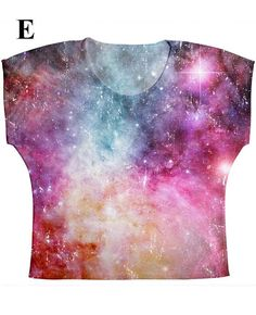 woman galaxy print top t shirt and tank xs plus by hellominky