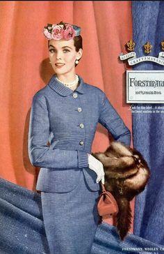 1954 Georgia Hamilton in Forstmann