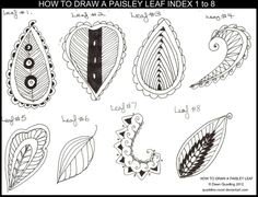 HOW TO DRAW A LEAF INDEX 1 to 8 by *Quaddles-Roost on deviantART