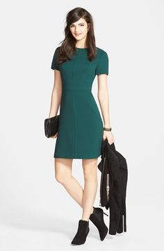 Eliza J A-Line Dress & Accessories available at #Nordstrom