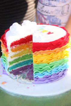 Coco Jo Cake Design: Rainbow Ruffle Cake