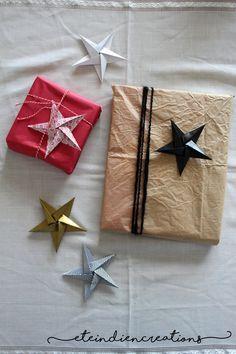 Étoiles origami adhésives ornement pour par eteindiencreations