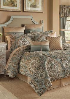 Luxury Bedding Sets On Sale Designer Comforter Sets, Bedroom Comforter Sets, Bedroom Red, Bedroom Decor, Croscill Bedding, Master Bedroom Design, Luxury Bedding, California King, Home Decor