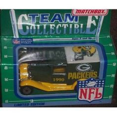 Green Bay Packers 1990 Matchbox White Rose NFL Diecast Ford Model A Truck Collectible Car by NFL  $43.79