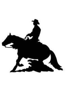 Horse decal-Horse sticker-Reining horse decal-Wall decal-Wall X 33 inches Cowboy Art, Silhouette Stencil, Drawings, Painting, Horse Silhouette, Art, Painted Rocks, Owl Decal