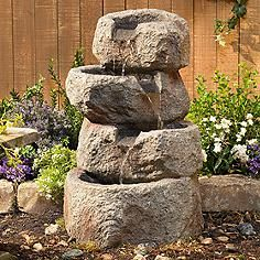 Glacial Rock Lighted Water Fountain with LED Lights