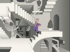 escher stairs sketch - חיפוש ב-Google