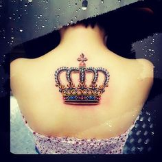 custom crown tattoo...would be cute with the right quote