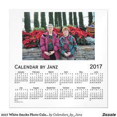 2017 White Smoke Photo Calendar by Janz Magnetic Card