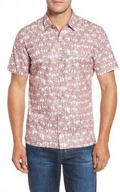 Men's Tori Richard La Palma Regular Fit Print Sport Shirt