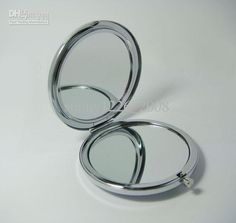 Wholesale compact mirror DIY Portable Metal cosmetic mirror silver tone, Free shipping, $1.66-2.05/Piece   DHgate
