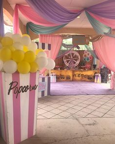 See related links to what you are looking for. Dumbo Birthday Party, Carousel Birthday Parties, Carousel Party, 1st Birthday Party For Girls, Carnival Themed Party, Girl Birthday Themes, Circus Birthday, Birthday Party Decorations, Circus Party