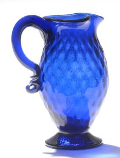 Creamer  Possibly made by Stiegel's American Flint Glass Company, Manheim, Pennsylvania, 1765 - 1774  Geography: Made in Manheim, Pennsylvania, United States, North and Central America or England, Europe Date: 1765-1800 Medium: Lead glass, called flint glass (blue)