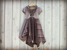 Hey, I found this really awesome Etsy listing at https://www.etsy.com/listing/181027477/med-retro-gray-black-upcycled-dress