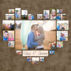 4 Various Heart Photo Collage template PSD. Valentine's Day gift. Present for 4 Various Heart Photo Collage template PSD. Present for still arts collage heart photo present template valentine various