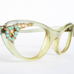 Rare Green Christian Dior Vintage Cat Eye Glasses