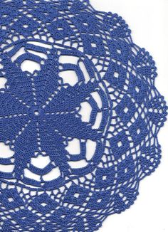 Crochet doily, lace doily, table decoration, crocheted place mat, center piece,doily tablecloth, table runner, napkin, royal blue