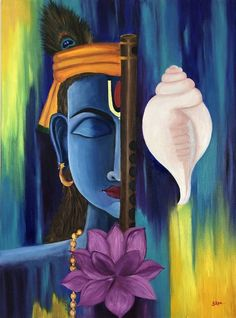 Abstract painting of Krishna Painting Buddha Painting, Krishna Painting, Buddha Art, Krishna Art, Krishna Drawing, Krishna Images, Pictures Of Krishna, Diy Canvas Art, Acrylic Painting Canvas