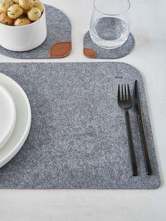 Felt Placemats - Nordic House modern, fun but functional! #felt #placements