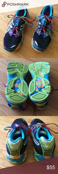 🌈 RARE! Asics Gel-Noosa Tri 8 Shoes M/5.5 or W/7! Check out these beautiful ASICS Gel-Noosa Tri 8 Superfeet Running Shoes! So colorful & great to run in! In good, pre-owned condition & priced to sell! Men's Size 5.5 = Women's Size 7 (see size chart). $15 cheaper than the same pair listed on Poshmark (under Men's Shoes). Thank you for shopping here! I 💖 my Posher Pals! Asics Shoes Athletic Shoes