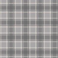 I Love Wallpaper Tartan Wallpaper Soft Grey / Charcoal - I Love Wallpaper from I love wallpaper UK