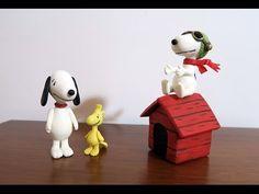 Casinha Snoopy na caixinha de acrílico (com Snoopy e Woodstock) - YouTube