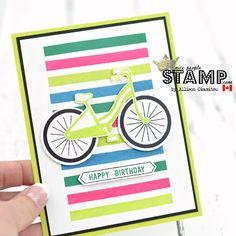 nice people STAMP!: Bike Ride Birthday Card: GDP094