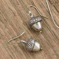 Danforth Pewter. Acorn earrings. Pewter.