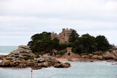 Island Castle in between Tregastel and Ploumanac'h along the Sentiers des Douaniers   France