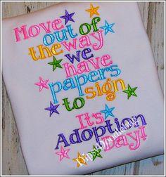 Adoption Day Girls or Boys Shirt - Girls Adoption Shirt- Boys Adoption Shirt- Adoption Day Custom Shirt