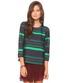 I got this top tonight. Totally awesome XXI find. Love a horizontal stripe.