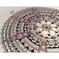 """How I love to make gems! #zentangle #                              …"