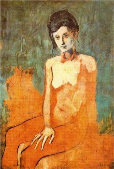 Pablo Picasso, Seated Nude, 1905, Musée National d'Art Moderne, Centre Georges Pompidou, Paris, France