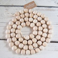 Woonketting houten kralen XL - 1.80 cm Do It Yourself Projects, Baby Boy Rooms, Handmade Wooden, Wooden Beads, Bead Crafts, Flower Decorations, Kitchenware, Home Deco, Interior Inspiration