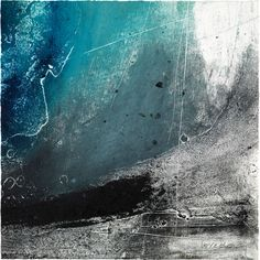 Ross Loveday is an artist who exhibits at the Zillah Bell Gallery. The Gallery has the largest collect of Norman Ackroyd RA's work outside his studio. Collages, Etching Prints, Colorful Abstract Art, Collagraph, Landscape Paintings, Abstract Paintings, Landscape Art, Landscapes, Blue Art
